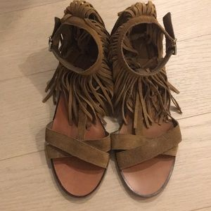 Zara sandals with fringe
